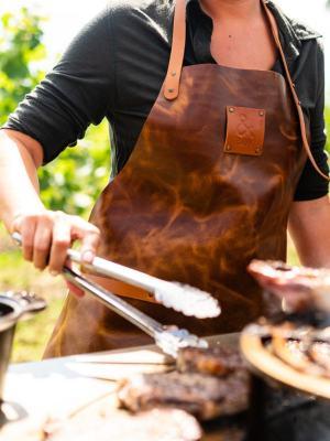 damski fartuch grillowy