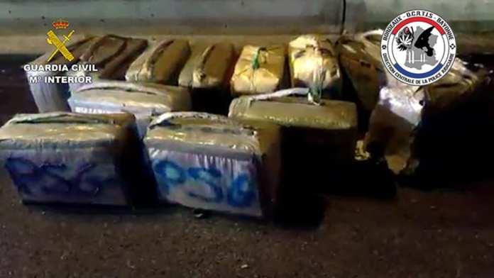 Transporte de drogas desde España a Francia