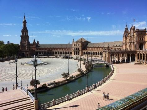 La magnifica Plaza de España di Siviglia.