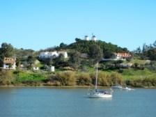 Nº 35. Risalendo il Guadiana: in un lato Spagna dall'altro Portogallo.