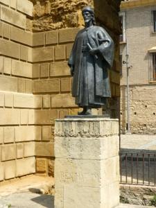 La raffigurazione di Ibz Hazm vicino alla Porta Siviglia di Cordoba.