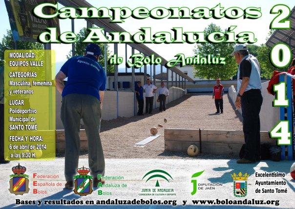 Cartel Campeoanto de Andalucía Equipos bolo andaluz copia red