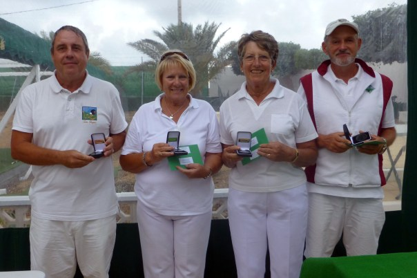 Campeonato de Andalucía Bolo Césped Tom Rogers Mary Detheridge Barbara Land  Terry Mogan Mixed Winners