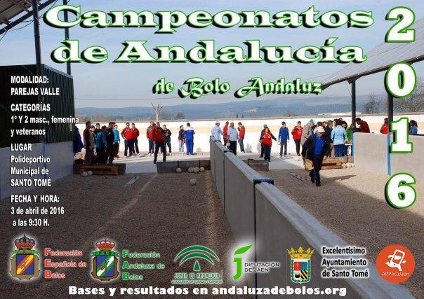cartel campeonato andalucia parejas bolo andaluz red