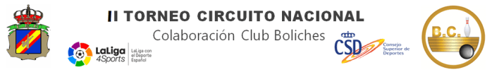 II TORNEO del CIRCUITO NACIONAL DE BOWLING,