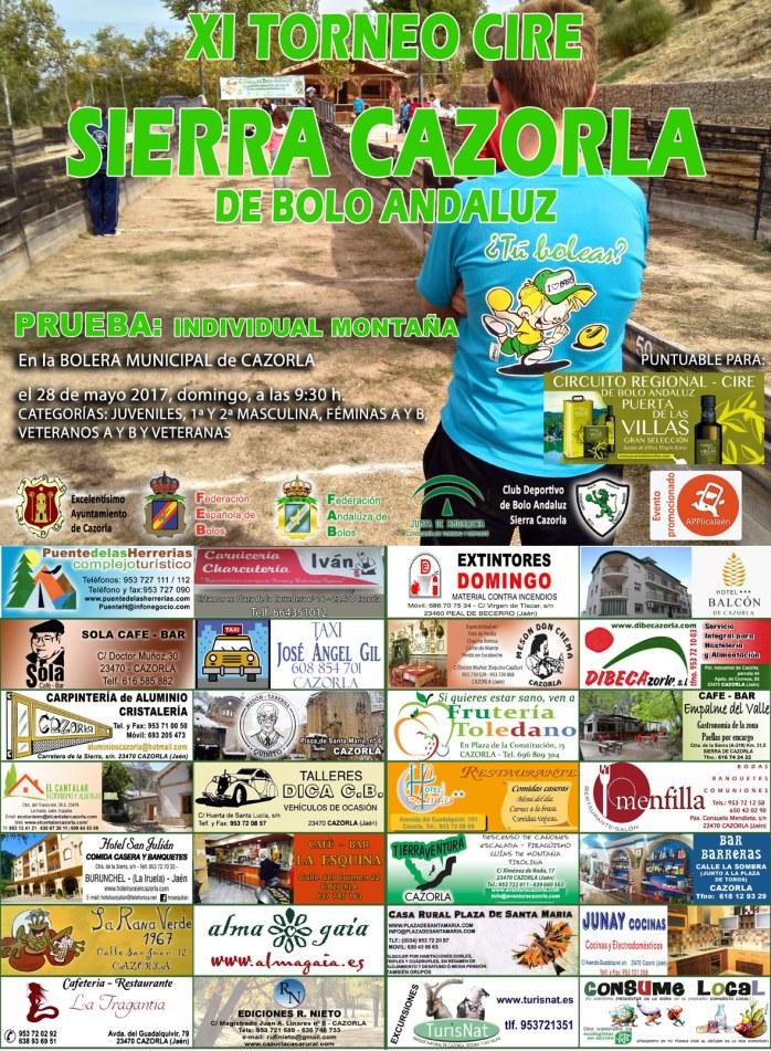 Cartel Sierra Cazorla Bolo Andaluz 2017