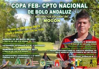 CARTEL CAMPEONATOS DE ESPAÑA DE BOLO ANDALUZ MONTAÑA red