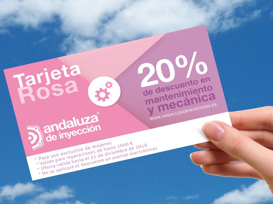 Tarjeta rosa para la mujer *PROMOCIÓN FINALIZADA