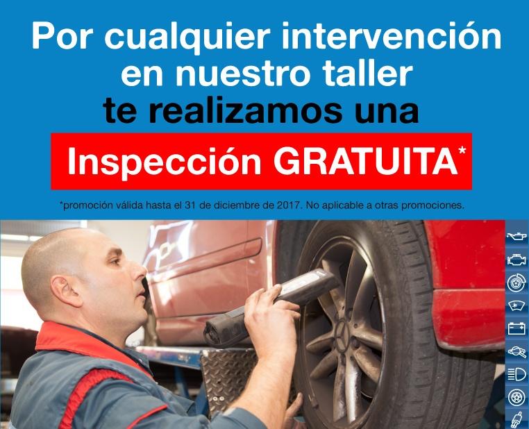 Llévate una Inspección Gratuita para tu vehículo *PROMOCIÓN FINALIZADA