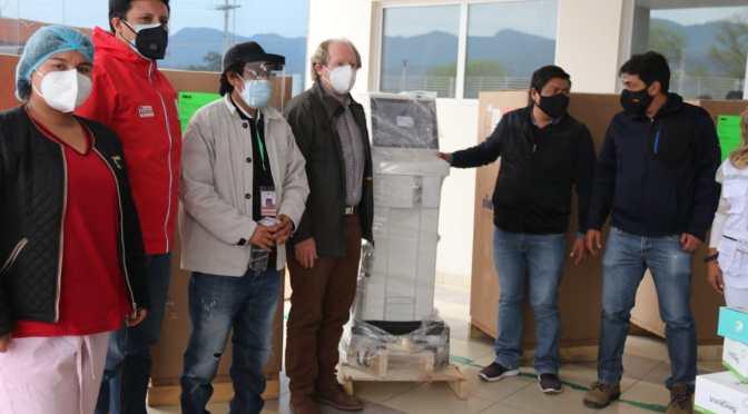 Gobernador Oliva entrega 5 respiradores para terapia intensiva al Hospital Fray Quebracho
