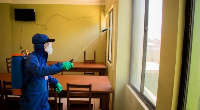 Alcaldía intensifica desinfecciones para evitar rebrotes de COVID-19 en la ciudad Tarija