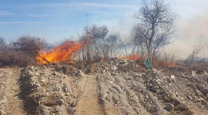 Incendio en Sella Méndez estuvo cerca de las viviendas pero fue controlado