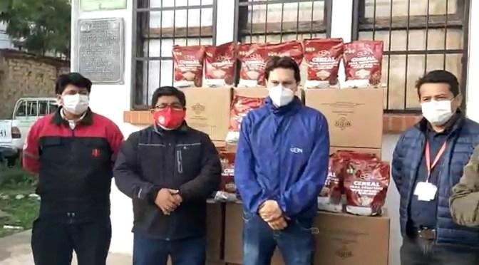 CBN apoya con cereales a la Red de Salud de Tarija