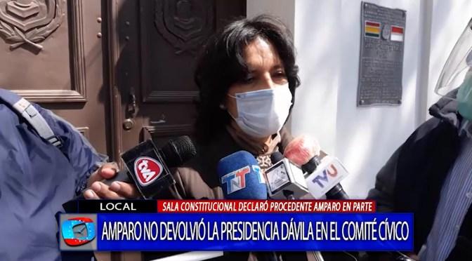 Abogada aclara que Tribunal estableció retorno de Dávila a Casa Cívica no a la presidencia
