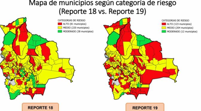 Los municipios en riesgo alto por Covid-19 suben de 81 a 123 en una semana