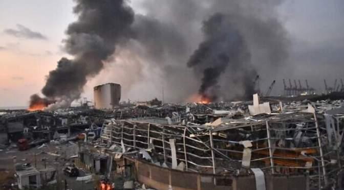 Rescatistas encuentran posible signo de vida tras un mes explosión en Beirut