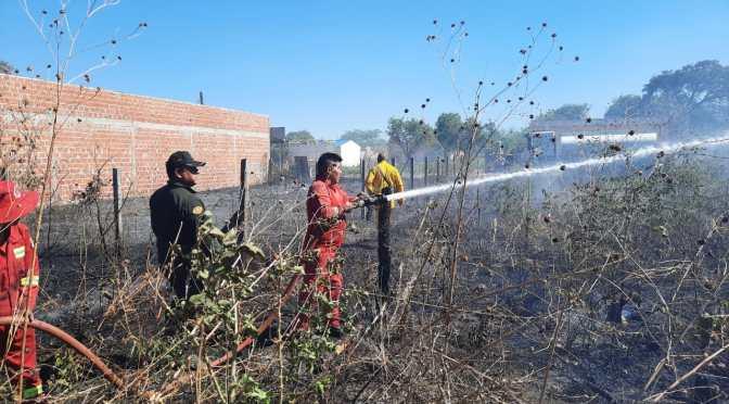 Este martes se registraron dos incendios en Yacuiba