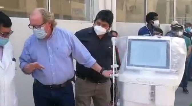 Hospital Virgen de Chaguaya recibió equipamiento para la sala covid