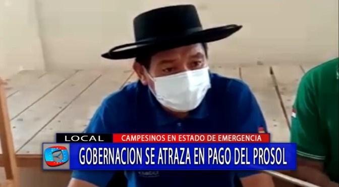 Campesinos en emergencia por retrasos en el pago del Prosol 2020