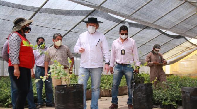 Innovan producción frutícola en dos viveros de la Gobernación
