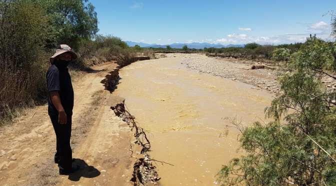 Desborde del rio se lleva alrededor de 300 metros del camino a Sella Cercado