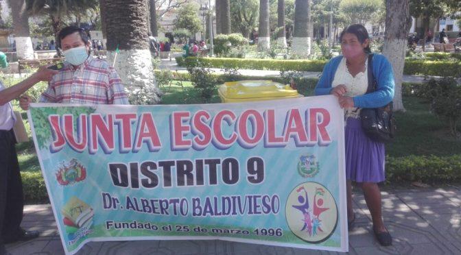 Anuncian marcha por la falta de entrega de recursos del desayuno escolar