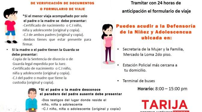 Secretaría de la Mujer y Familia realizará rigurosos controles en permisos de viajes