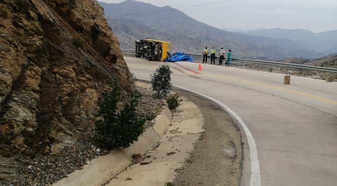 Accidente fatal en Cieneguillas : Fallan los frenos de un camión,  este vuelca y aplasta a una mujer
