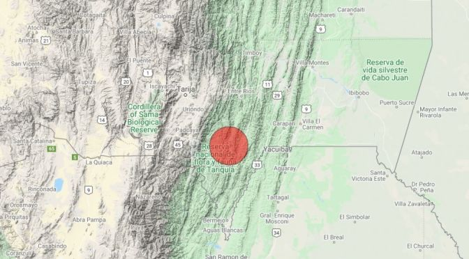 Urgente: Se registra temblor en tarija