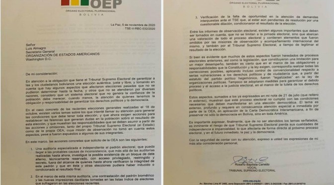 """Vocal del TSE pide una auditoría a la OEA; advierte la posible existencia de una """"data secreta"""""""