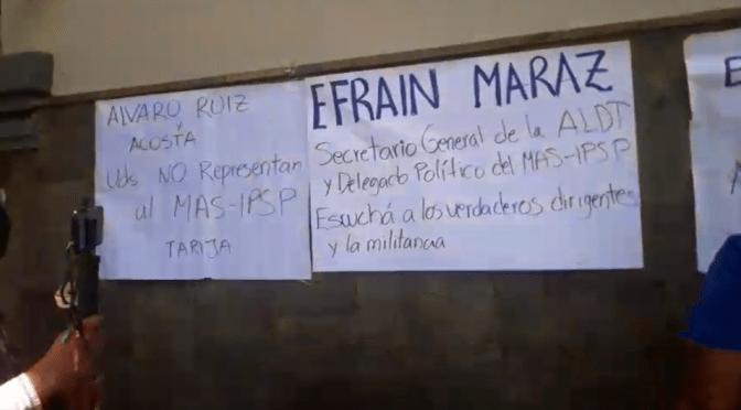 Se quebró el MAS en Tarija y en Bolivia