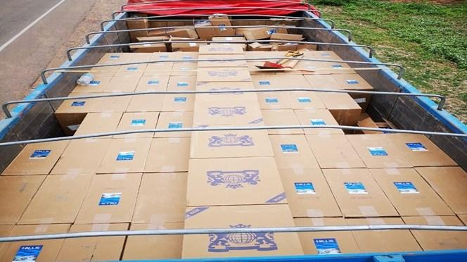 Decomisan carga de cigarrillos de contrabando