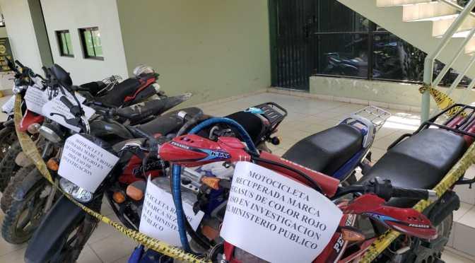 Diprove recupera 9 motos robadas, una la entregaron a su propietario