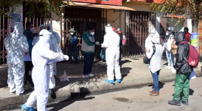 Gobernación inicia con el testeo en la Policía Boliviana para detectar casos de covid 19