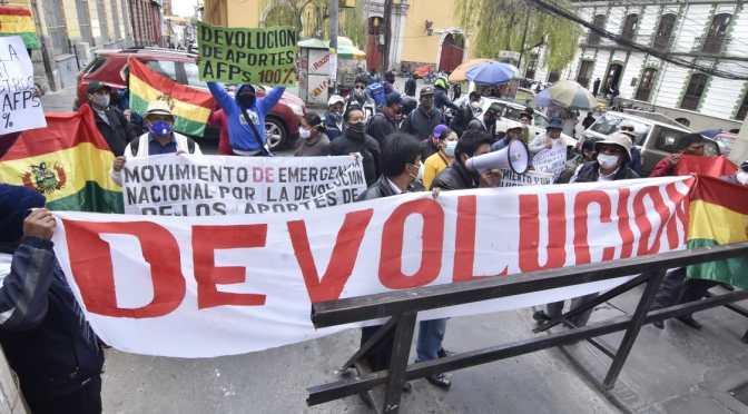 Dirigentes tarijeños se sumarán a movilizaciones en La Paz por la devolución de aportes a las AFPs