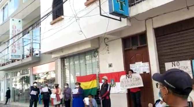 Vecinos de San Luis protestan por un trabajo deficiente de Cosaalt