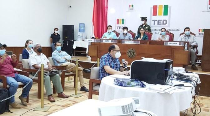 El TED concluye el cómputo de votos en Tarija y presenta los resultados oficiales