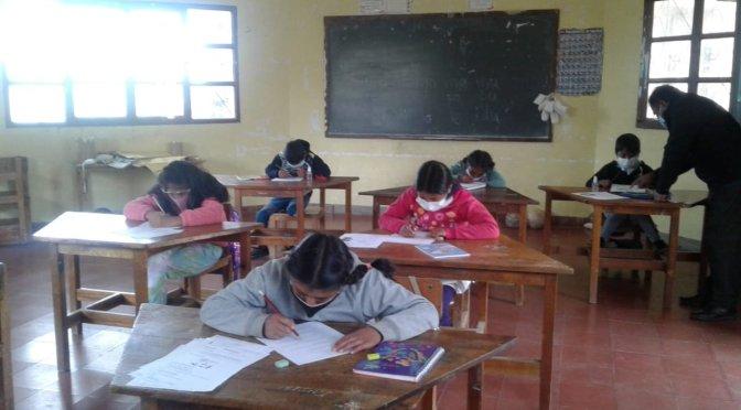 En Yunchará las clases se pasan de manera presencial y con normalidad