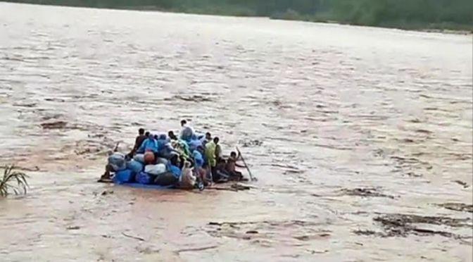 Varias personas caen a las aguas del río Bermejo, buscan desaparecidos