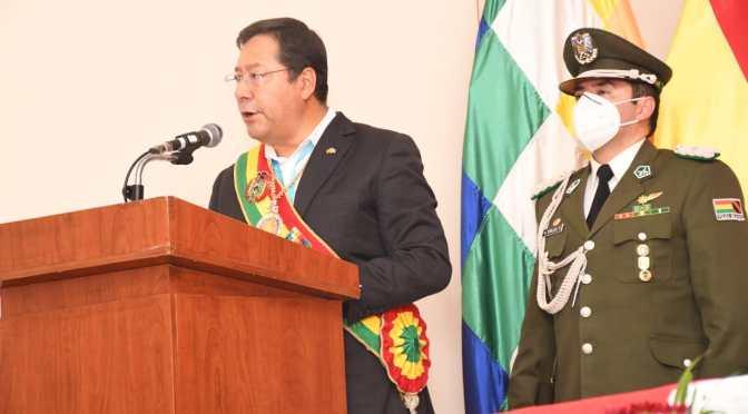 Luis Arce promete para Tarija el 15 de abril obras que nunca se concluyeron