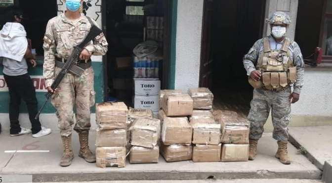 Unidades navales en Bermejo decomisan en un día productos de contrabando y casi dos millones de pesos argentinos