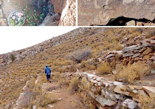 Ruinas de la zona alta, un pasado sin futuro