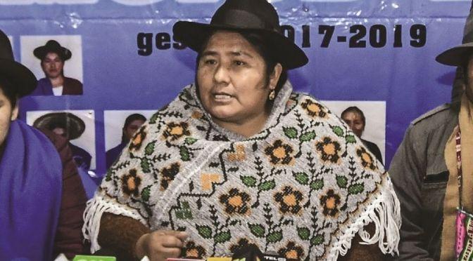 Segundina Flores pide que se incluya a Evo en la evaluación de dirigentes del MAS