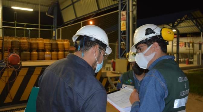 Director de la ANH da continuidad a la inspección de plantas de Almacenamiento y Engarrafado de GLP en Tarija
