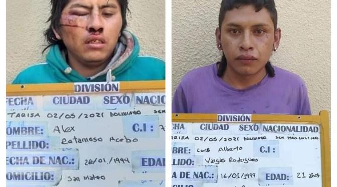 Encarcelan al Beto y Ale, atracaron a una mujer en el barrio Lourdes