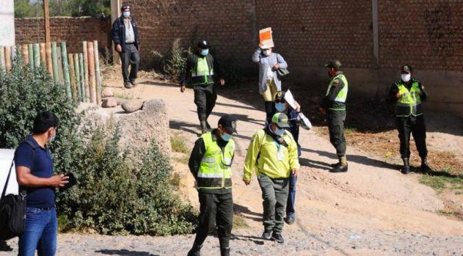 Cochabamba: Autoridades y víctimas realizan la inspección y reconstrucción de hechos en Huayllani
