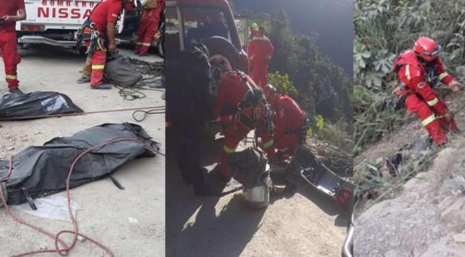 La Paz: Embarrancamiento deja dos fallecidos en la ruta a Caranavi