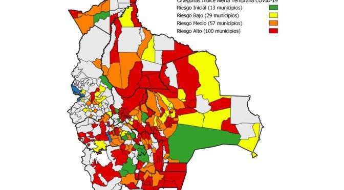 8 de 11 municipio en TArija en alto riesgo por covid-19