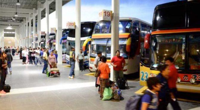Refuerzan controles en la terminal de buses para evitar el tráfico de menores