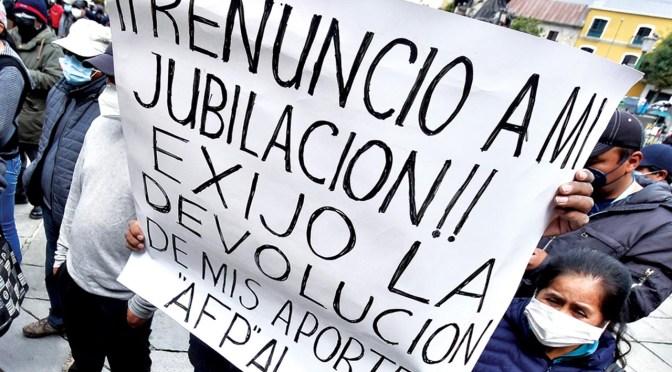 El miércoles inician protestas en Tarija para exigir la devolución de aportes a las AFPs